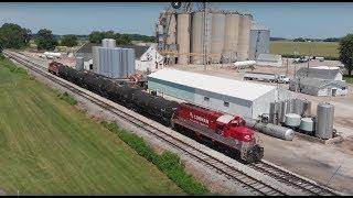 Drone chasing RJ Corman on the SPEG railroad