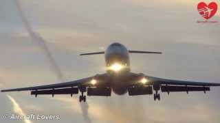 Slovak Government Tu-154M [OM-BYO] Landing @ Germany, Berlin Tegel 25.02.2014