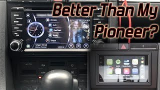 Chinese Android Head Unit vs My Pioneer App 4 - Audi A4 - Seicane