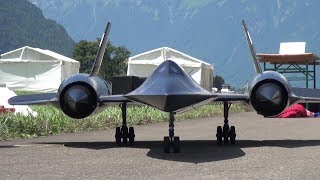 The New R/C Lockheed SR-71 Blackbird by Roger Knobel with After-Burn FAI Meiringen 2018