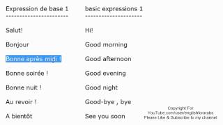 French basic expressions part 1 - French For Beginners