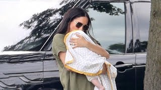Meghan Markle Cradles Archie During Surprise Appearance at a Charity Polo Match