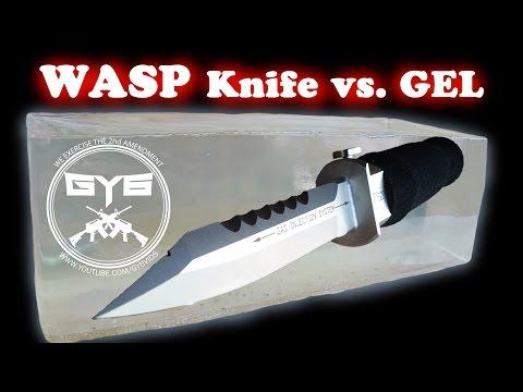 Wasp Injection Knife -vs.- Ballistic Gel video