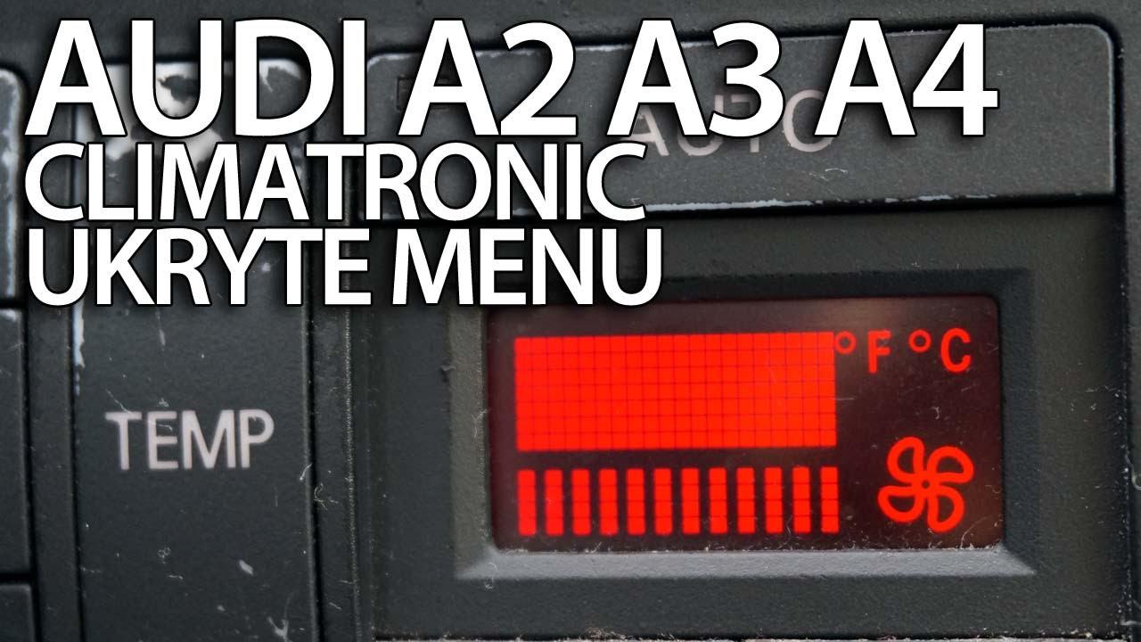 ukryte menu serwisowe audi a2  a3 8l  a4 b6 climatronic