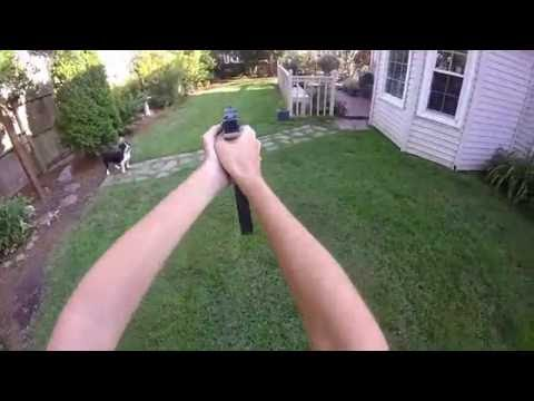 Airsoft Issc M22 GBB Extended Mag Shooting