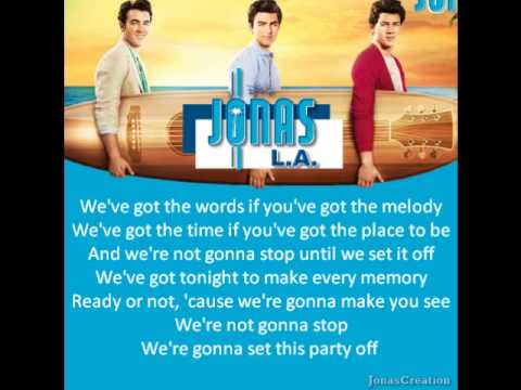 Jonas Brothers - Set This Party Off