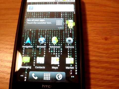 Walk-thru android 2.2 on HTC HD2 (Darkstone Build) Music Videos