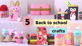 5 Easy DIY Back to School Craft Ideas ||  School Supplies Ideas by Aloha Crafts