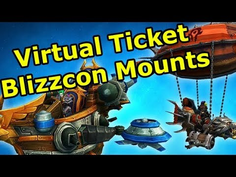 Checking Out the new Blizzcon 2017 Virtual Ticket Mounts in World of Warcraft