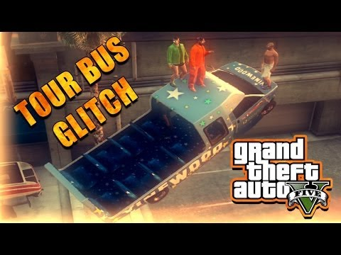 GTA 5 Online – Tour Bus Glitch (Crazy Stunt Jumps and Funny Moments)