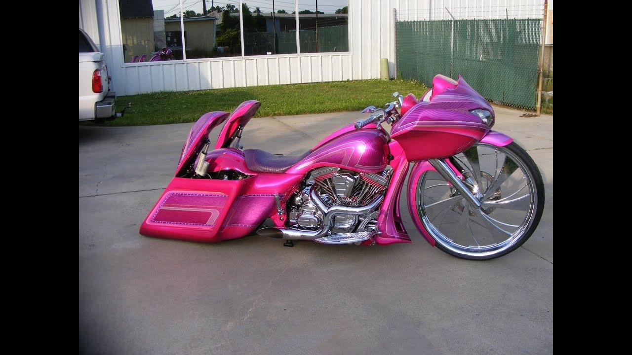 Girl Bagger S Custom Cycles Ltd Pink 30 Inch Road Glide