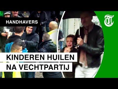 Kinderen vluchten uit stadion