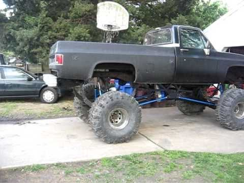 Mud Truck Big Lifted Chevy Jacked Up