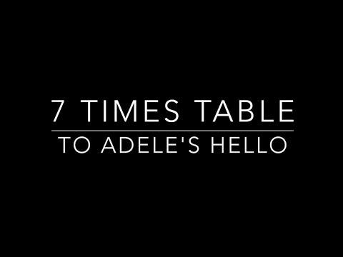 7 times table set to Adeles Hello