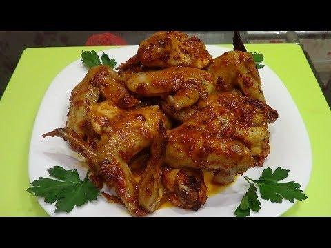 Куриные крылышки запеченные в духовке   быстро и просто