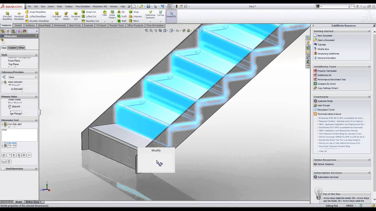 Bim and architectural metalwork in solidworks youtube for Video architecture