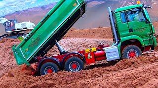 RC CONSTRUCTION SITE ACTION I RC TRUCK STUCK I RC TRUCK MEETING I MAN