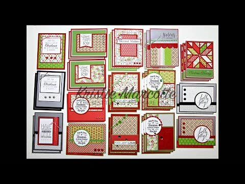 Cardmaking with Doodlebug's Home for the Holidays paper using 6x6 tutorial