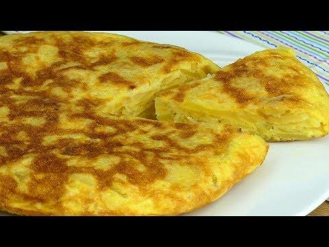 """Очень простой, быстрый и сытный ужин - """"Испанская Тортилья"""" с картофелем!   Appetitno.TV"""