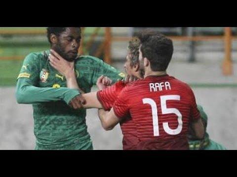 Alexis Song Vs Fabio Coentrão 'El Clássico' Fight ~ Portugal vs Cameroon ~ 2014