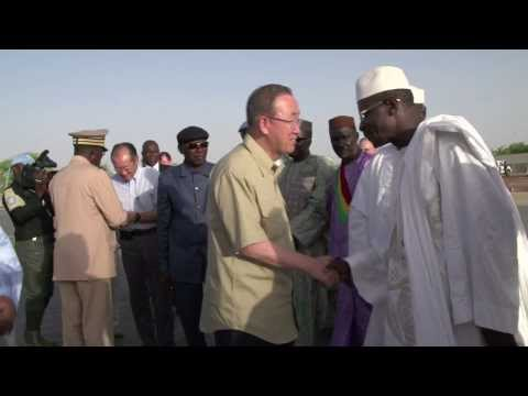 Jim Yong Kim and Ban Ki-moon Visit Africa's Sahel Region