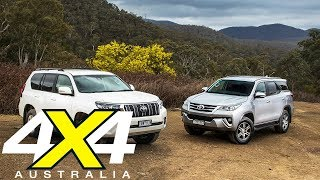 2018 Toyota Prado vs Toyota Fortuner comparison review | 4X4 Australia