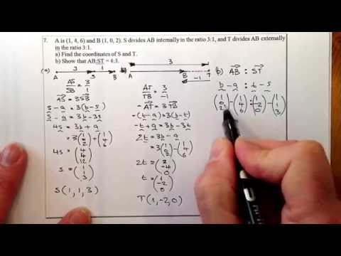 Higher Hwk11 Q7 Vector Dividing Lines Externally and Internally