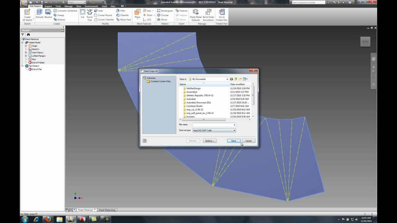 Autodesk Inventor Lofted Flange Mp4 Youtube
