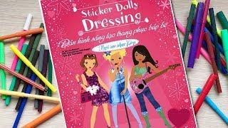Đồ chơi bé gái dán hình trang điểm váy đầm búp bê Tập16 ngôi sao nhạc pop - Sticker (Chim Xinh)