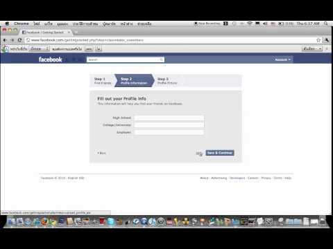 วิธีการสมัครFacebook