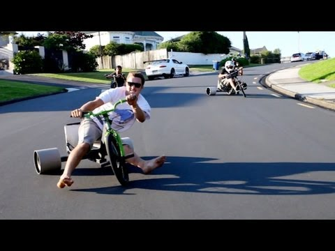 New Zealand Trike Drifting