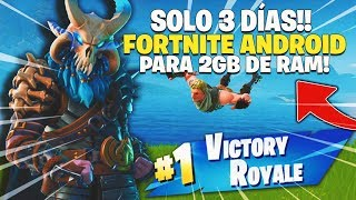 FORTNITE ANDROID - DESCARGA NUEVA APK - FORTNITE para ANDROID REDUCE sus REQUISITOS EN 3 DÍAS!!