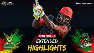 Extended Highlights | Semi Final Two | Guyana Amazon Warriors v St Kitts & Nevis Patriots | CPL 2021