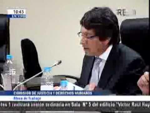 Presentación del Colegio de Notarios de Lima en Mesa de Trabajo del Congreso