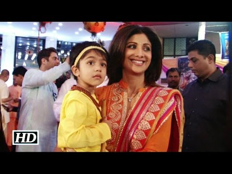 Watch How Shilpa Shetty's son Viaan celebrates Janmashtami