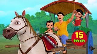 டக்டக் டக்டக் குதிரைவண்டி | Tamil Rhymes for Children | Infobells