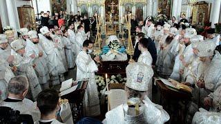 Прощание с почившим митрополитом Филаретом состоялось в Свято-Духовом кафедральной соборе Минска