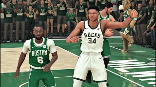 NBA 2K20 Gameplay - Milwaukee Bucks vs Boston Celtics (Eastern Conference Finals) 12 Min. Quarters