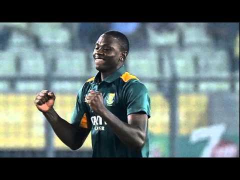 South Africa's Kagiso Rabada snares hat-trick on ODI debut against Bangladesh