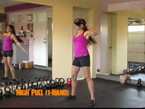 High Pull (1-Hand) Kettlebell Exercise Image 1