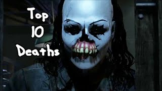 Top 10 Character Deaths in 'Until Dawn'