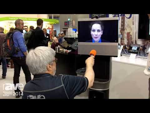 ISE 2014: Joel Rollins Checks Out Cisco and iRobot Ava 500 Video Collaboration Robot
