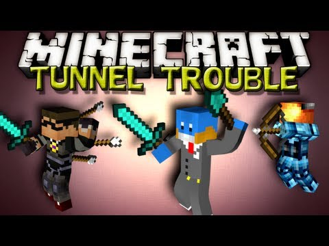 Minecraft TUNNEL TROUBLE - w/ Sky and Jason!
