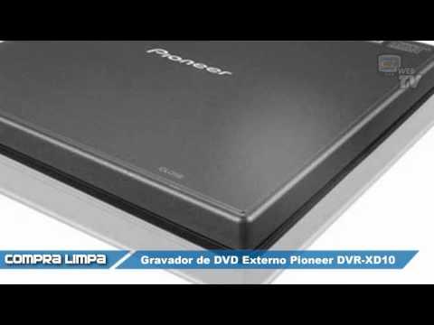 Gravador de DVD Externo Pioneer DVR-XD10 USB 2.0