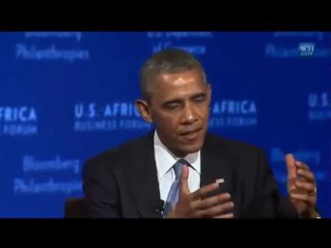 President Barack Obama speech and Interview at US Africa Business Forum