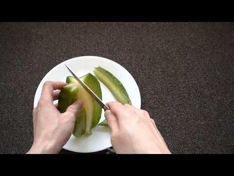Review How To Eat a Starfruit star fruit tutorial Averrhoa Carambola Golden Newcomb King demak maha