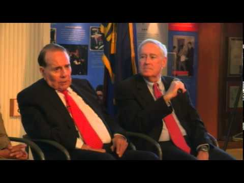 Bob Dole's visits the Dole Institute of Politics - April 22, 2014