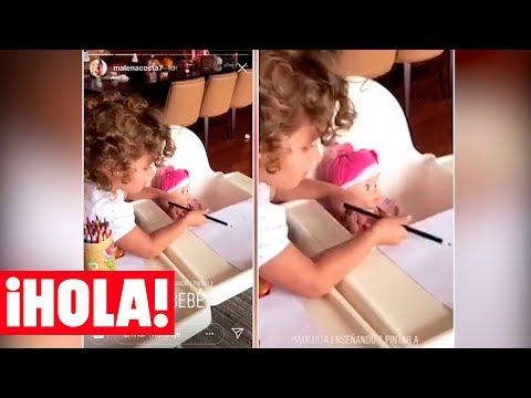 La divertida tarde de juegos de Matilda, la hija de Malena Costa y Mario Suárez