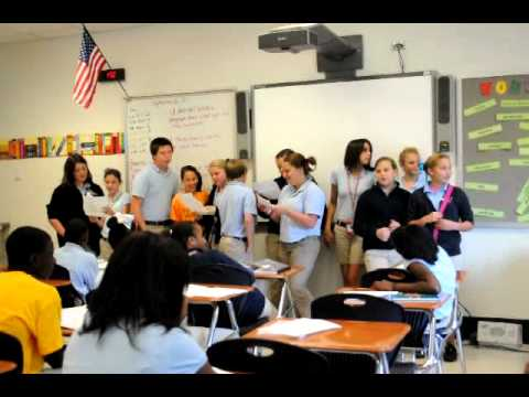 Semmes Middle School 7th Grade performs pronoun song