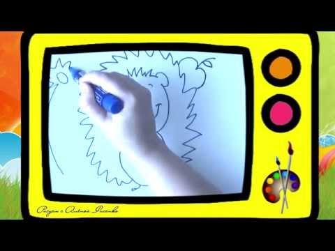 Как нарисовать ежика. Оживающие рисунки / How to draw a hedgehog. Наше всё!